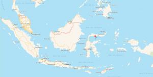 Carte Sulawesi indonésie
