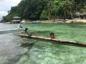 Sur l'île de Kadidiri